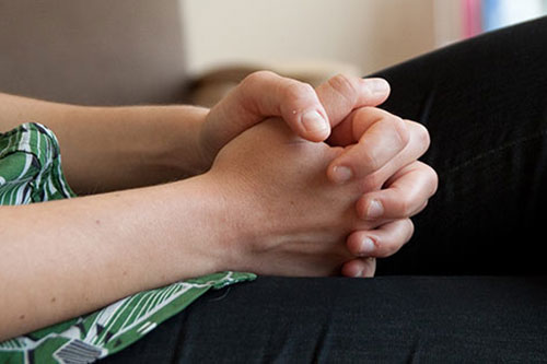 picture of clasped hands